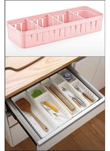 Kitchen Love 4Bölmeli-Ayarlanabilir Çekmece Düzenleyici Renkli